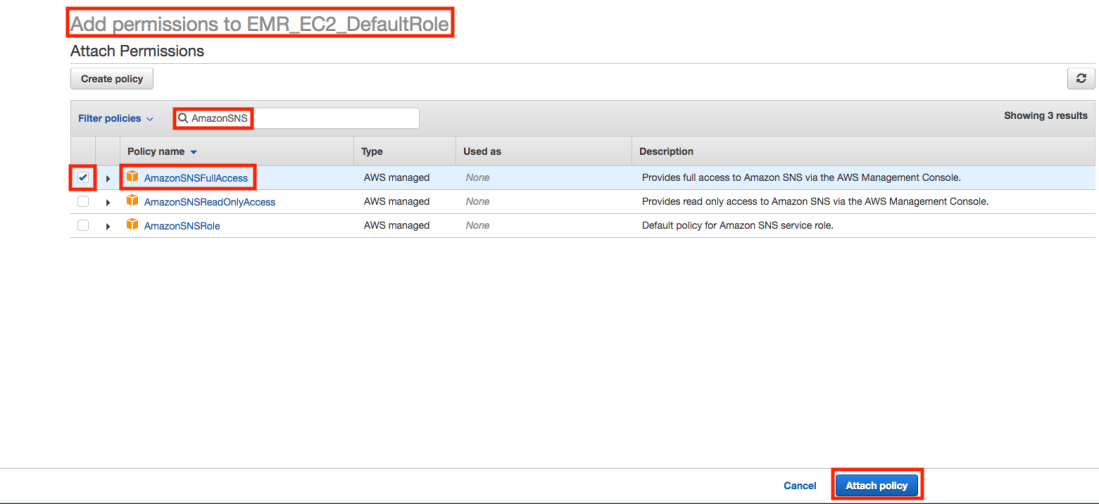 How can I create email notifications for when an Amazon EMR cluster